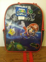 Official Nintendo Super Mario Galaxy Backpack Kid Child 12quot;×15quot; NWT FREE SHIP $23.39