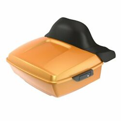 Advanblack Hard Candy Gold Flake King Tour Pack Trunk Luggage For Harley 97-20