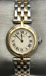 Panthere Round Sm 2row 166920 18k Ss Gold Silver Quartz Womenand039s Watch