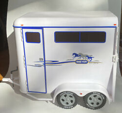 "Breyer Deluxe Two Horse Trailer Traditional Series 2002 Large 14"" X 10"" Farm"