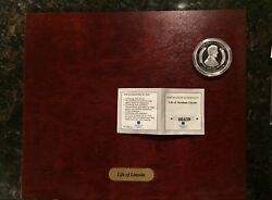 American Mint Life Of Abraham Lincoln Silver Plated Copper Commemorative Coins