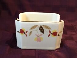 Hall China Autumn Leaf Sugar Packet Tea Bag Caddy Holder NALCC Ltd Ed 1990