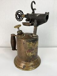 Antique Brass Works Blow Torch Early 1900and039s Original The Turner Steam Punk