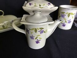 Hall SPRING LEAF ONE CUP INTERNATIONAL TEA POT China Specialties Autumn MINT