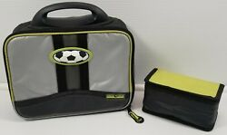 Artic Zone Insulated Lunch Bag Box Kids Soccer With Inside Snack Holder $7.99