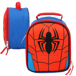 Marvel Spider-man Chest Emblem Dome Insulated Lunch Bag School Lunchbox Blue Red