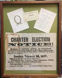 Charter Election Boonville Ny 1867 And More Nicely Framed Oneida County Material