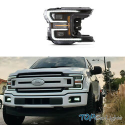 Vland Led Headlight Fits For 2018-2020 Ford F150 Projector Retrofit W/ Assembly