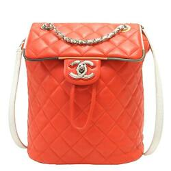 Orange Multicolor Cuba Urban Spirit Backpack Quilted Leather