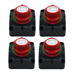 4pcs 3-speed On-off Battery Disconnect Shut Off Isolator Switch 12/24v