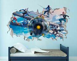 For Fortnite Game Guns For Battle Custom Wall Decals 3D Wall Stickers Art M2141