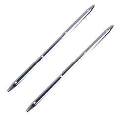 2x Stainless Steel 18and039and039 Rub Strake 4 Holes Polished For Marine Boat Truck Rv