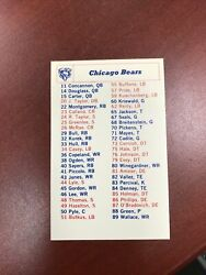 1969 Chicago Bears National Football League Roster Schedule Sayers And Piccolo Mt