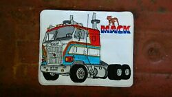 Rare Vintage 10 Mack Trucks Cabover Embroidered Jacket Patch 8x10