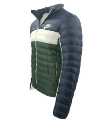 Menand039s Nike Puffer Jacket Synthetic Filled Bv4685-451 Blue White Green 160