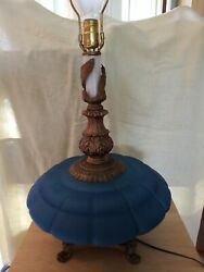 Vintage Teal Glass Night Light 3way Table Lamp I Dream Of Jeannie Genie Bottle