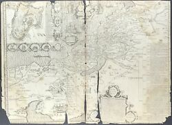 1611 King James Bible Leaf Antique Map And039heand039 Bible Land Of Canaan Israel 3