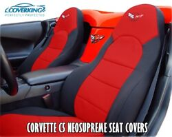 Chevy Corvette C5 Coverking Neosupreme Custom Fit Seat Covers with C5 Logo 97 04 $199.00