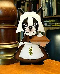 Boston Terrier Thanksgiving Mrs Pilgrim 7 in Decor