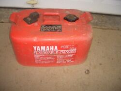 Vintage Metal Yamaha 6.3 Gallon Marine Outboard Boat Motor Gas Can Clean Inside