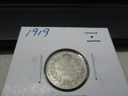 1919 - Canada Silver 10 Cent - Canadian Dime