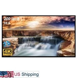 200 inch Large Projector Screen 16:9 Hanging Projection Screen Movie Screen
