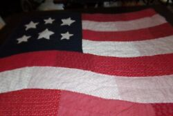 Kohland039s Patriotic American Flag Wall Hanging Farmhouse Country Hand/machine Sewn