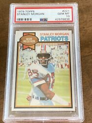 1979 Topps Stanley Morgan 221 Card And Proof Patriots Wr Psa 10 Pop 22