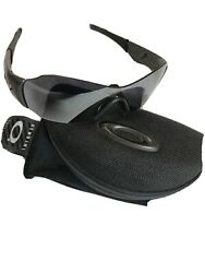Oakley Zero Sunglasses 42 229 Black Grey Pre Owned W sleeve And Case Made In USA $55.00