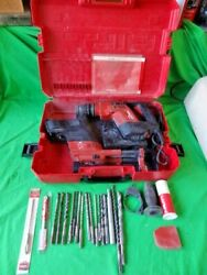 Hilti Te5 Rotary Hammer Drill + Bits Case Dust Removal Tool Works - No Returns