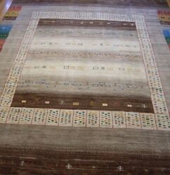 Genuine New Gabbehh Tribal Hand Knotted Wool Premium Quality Oriental Rug 8 X11