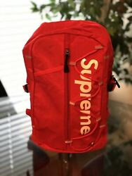 Brand New Supreme Backpack Red 🔥 Ships Super Fast 💯 $80.00