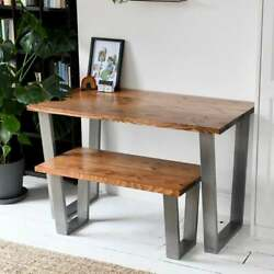 Truman | Wood Desk And Bench Set / Home Office