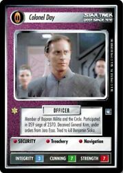 Star Trek Colonel Day [moderately Played] Deep Space Nine Stccg Decipher 1e
