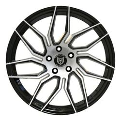 4 Hp2 20 Inch Staggered Black Rims Fits Infiniti G37s Coupe 08