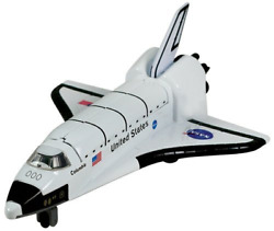 Toyland® 6 Inch Die Cast Metal Space Shuttle Model Toy Vehicle With Opening