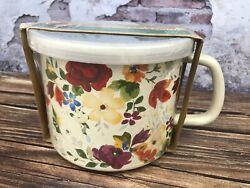 New Pioneer Woman Timeless Floral 6andrdquo Measuring Pitcher Enameled With Lid