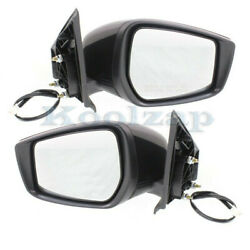 For 15-19 Versa Rear View Door Mirror Assembly Power W/o Signal Lamp Set Pair