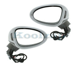 15-18 Macan Rear View Mirror Power W/blind Spot Signal And Puddle Lamp Set Pair