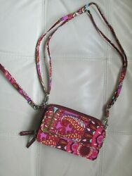 Vera Bradley All in One Crossbody Wallet Purse Wristlet Resort Medallion $50.00