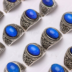 Wholesale Lots 20pcs Color Changing Silver Plated Man Woman Mood Rings Free