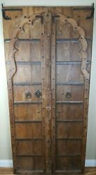 Antique Hand Carved Wood Iron Doors India Medieval Game Of Thrones Mancave Style