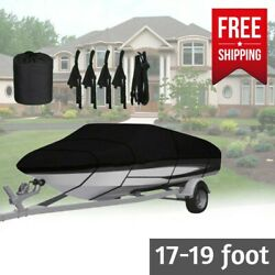 Boat Cover 18 Foot Boat Waterproof Winter Heavy Duty Ski Fishing Outdoor 17 19