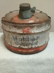 Vintage Mobiloil Outboard Motor 2 1/2 Gal Gas Oil Can Socony Mobil Oil Company