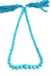 One Strand 100 Natural Sleeping Beauty Turquoise Round Beads 8-14mm