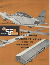 1956 Bsb Multiple Hangars Airport Manager's Guide Booklet