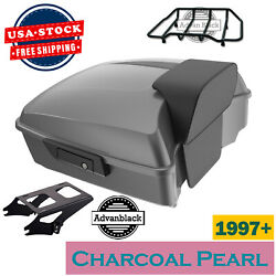 Charcoal Pearl Chopped Tour Pack For 97+ Harley Davidson Touring By Advanblack