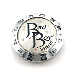 Bad Boy Wheels Leader Center Hub Cap 2-3/8 Chrome And Machined Snap In Cap-143