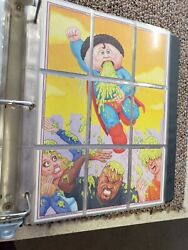 3 Ring Binder With Garbage Pail Kids Card Collectible Collection Apx 680 Cards