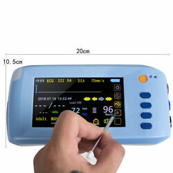 Handheld 6-parameter Vital Signs Patient Monitor Tft- Lcd Touch Screen Fast Ship